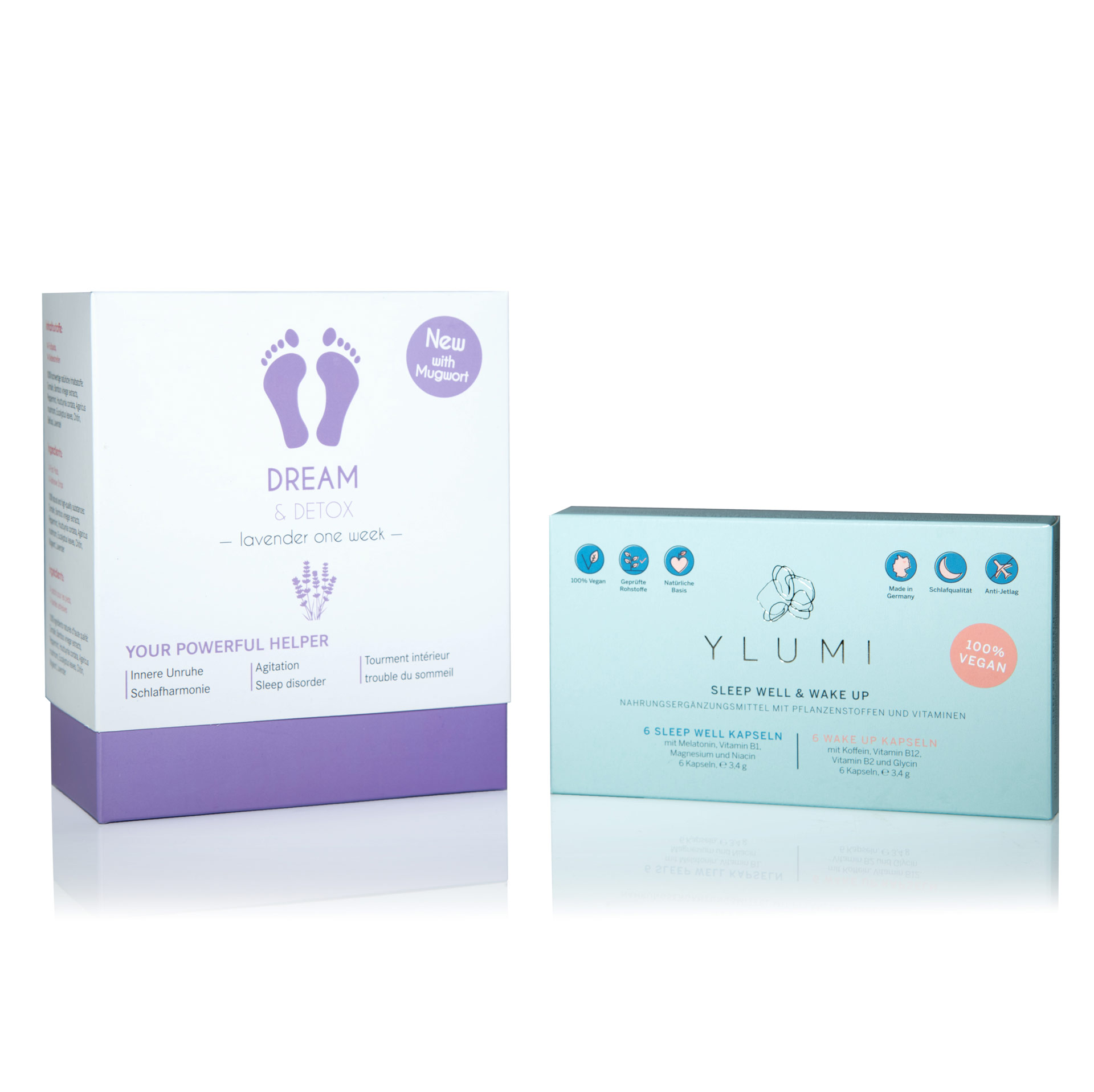 "Bambus Vital Pads mit Lavendel – Dream Box & Gratis Ylumi Starter Set ""Sleep Well & Wake Up"""